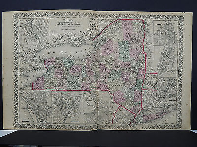 Colton's Maps, 1855, Authentic, New York State R8#63