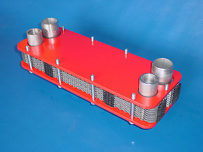 Swimming Pool Bolt Plate Heat Exchangers 71kW Stainless Steel Solar Recuperator