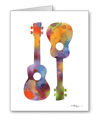 UKULELES Note Cards With Envelopes