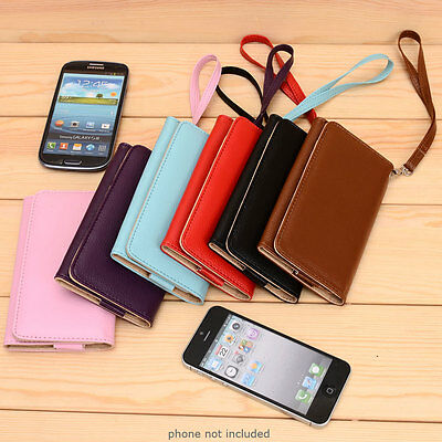 1 of 12FREE Shipping PU Leather Protective Wallet Case Clutch Cover for Smart .