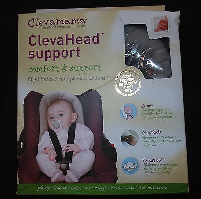 Clevamama ClevaHead Infant Head Support Gray/White Graphite/Cream Carseat