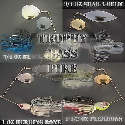Bassdozer TROPHY spinnerbaits BASS / PIKE spinner bait fishing lures
