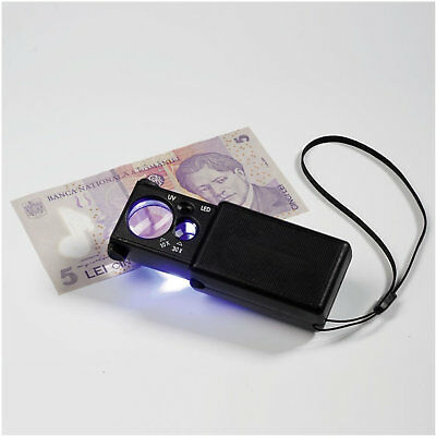 Lighthouse Pull Out Magnifier with 10x and 30x Magnification plus LED and UV