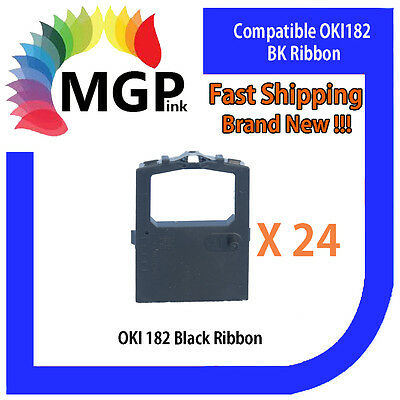 24x OKI-182 Compatible Black Ribbon – OKIDATA ML120/172/180/182/183/186/190/192