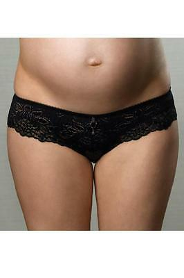 "Brand New ""HotMilk"" Maternity 'Ruffle my Feathers' bikini brief small - defect"