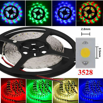 Waterproof 5-30M 5050 3528 RGB Music LED Strip Light Flexible Dimmable Sound