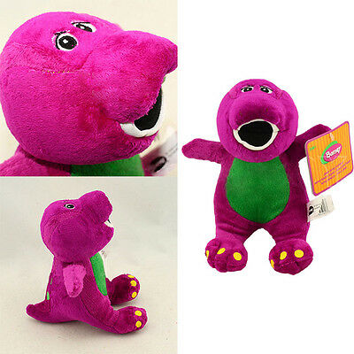 NEW Purple Plush Soft Toy Doll Barney The Dinosaur Sing I LOVE YOU Song