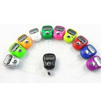 Mini Digital Finger Ring Tally Counter Hand Held Knitting Row Counter LED