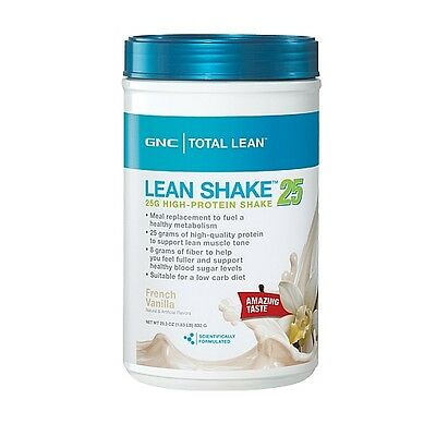 GNC Total Lean Shake, French Vanilla, 25g High Protein Shake 1.83 lbs