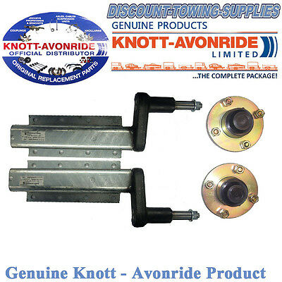 """Genuine Knott-Avonride 750kg Pair of Suspension Units Complete With 4"""" PCD Hubs"""