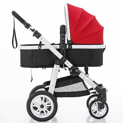 New 3 in 1 Baby Toddler Pram Stroller with Bassinet 4 Wheel Reversible Jogger