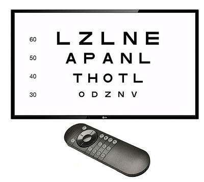 "COS Visual Acuity System With 24"" HD LED TV"