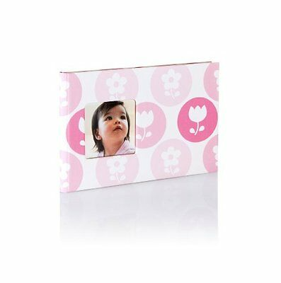 Pearhead Baby Brag Book Pink Flowers Photo Album Holds 24 Photos NEW
