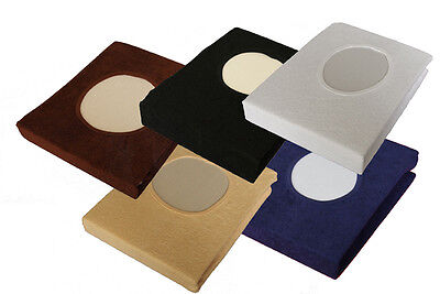 Massage Table Plinth Treatment Couch Covers WITH Face Breath Hole Colour Choice