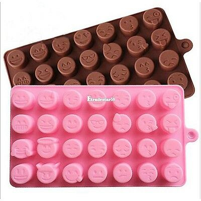 New emoji expression Silicone Mold For cake pralines candy ice jaws ETDS