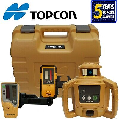 Topcon Model RL-H5B Rotating Laser Level with Bonus T-100 Laser Receiver