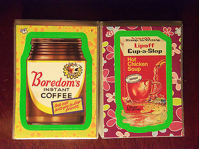 2008 Wacky Packages Flashback Series 1 ~ 72 Card Set OOP - GREEN Border Set WOW!