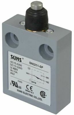 SUNS SN3211-SP-B3 Booted Plunger Limit Switch for 914CE18-6 9007MS10S0100