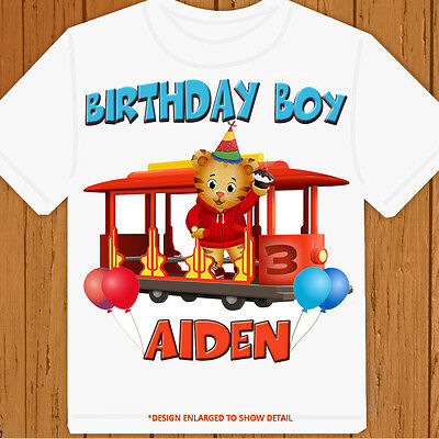 Daniel Tiger's Neighborhood - Personalized Size, Name & Age - Birthday T-Shirt