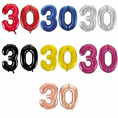 Giant 30th Birthday Party Number 30 Foil Balloon Helium Air Decoration Age 30
