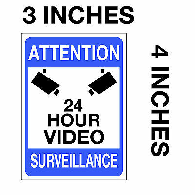video surveillance warning sticker 24 hour cctv decal caution security home