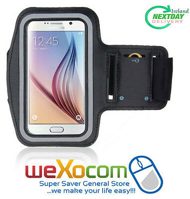 Sports Armband Gym Jogging Sports Running Case,Galaxy S5,S6/S6Edge S7,(Black)