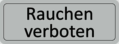 Doorplate Rauchen verboten selfsticking 45 x 120 mm