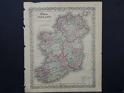 Colton's Maps, 1855, Authentic #02 Ireland