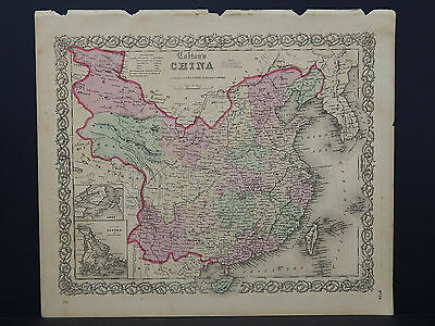 Colton's Maps, 1855, Authentic #28 China