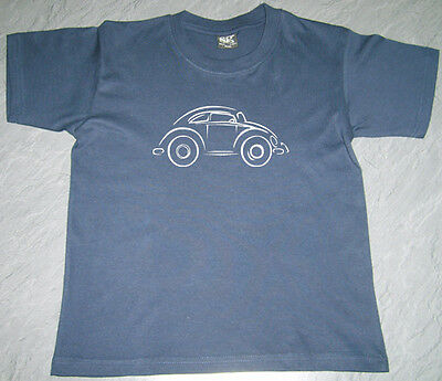 Boys Girls Kids Baby VW Beetle Bugrod (1) T Shirt SG Cotton Personalised