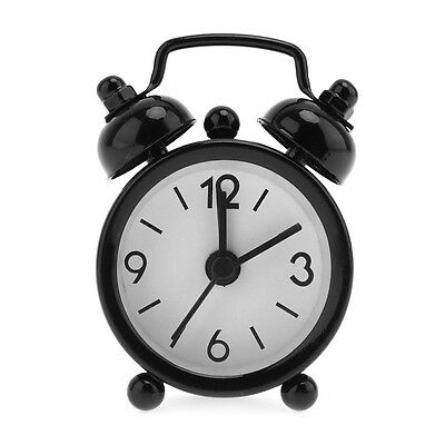 New Mini Portable Cute Home Clock Dial Number Round Desk / Bed Alarm Child Gift