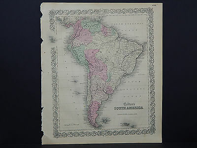 Colton's Maps, 1855, Authentic  South America  R8#23