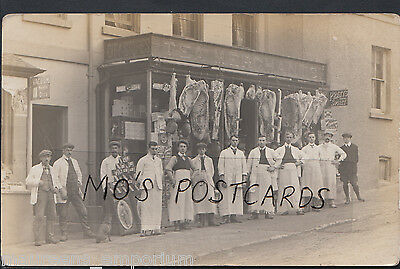 Social History Postcard - Unknown Location - Tea Merchants Shop & Staff  BH3813
