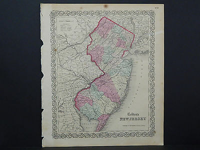 Colton's Maps, 1855, Authentic S1#05 New Jersey