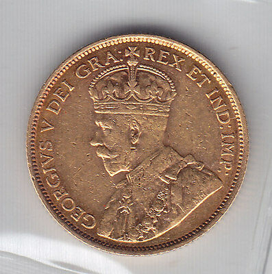 1912 Canada Five Dollars Gold Coin