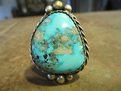 OLD Navajo Sterling Silver ROYSTON Turquoise BOLO Tie