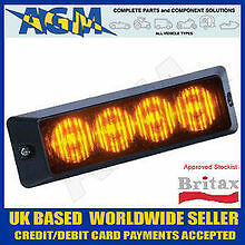 BRITAX L56 Series 4 LED Strobe Surface Mount Lamp - Flashing Beacon Warning