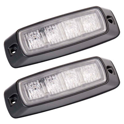 Pair of Britax L96 LED Strobe Flashing Amber Lighthead Lamp Reg 65 Appro 12/24v