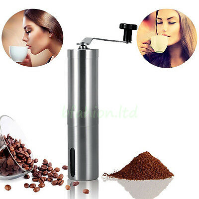 Hot Stainless Steel Kitchen Hand Manual Grind Coffee Bean Burr Grinder Mill Tool