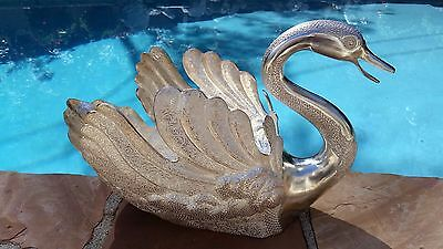Magnificent & Large Solid sterling Silver Swan Centerpiece Bowl