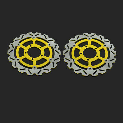 2PCS Front Floating Brake Disc Rotor For Kawasaki ZX10R ZG1400 Concours ZZR1400