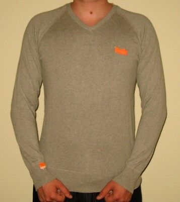 New With Tags Orange Label By Superdry Men Classic Vee Neck Long Sleeve Shirt L