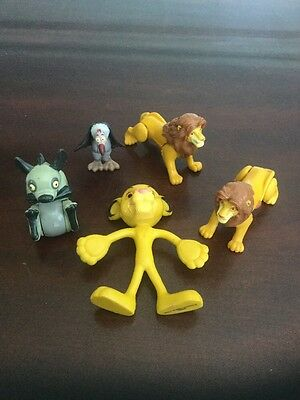 """Lot Of Disney The Lion King PVC Figures Cake Toppers 2""""-4"""" Tall"""