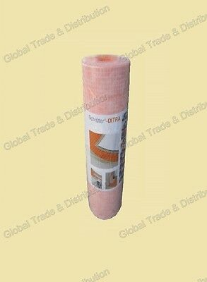 """Schluter Systems Ditra 1/8"""" Thick Uncoupling Membrane 54 SqFt Roll 3' 3"""" x16' 5"""""""