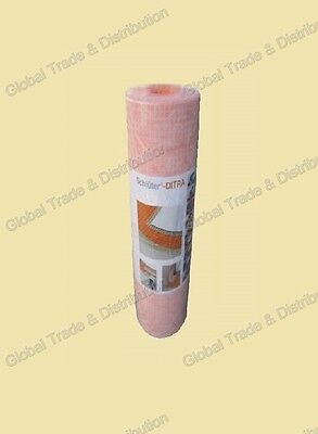 "Schluter Systems Ditra 1/8"" Thick Uncoupling Membrane 54 SqFt Roll 3' 3"" x16' 5"""