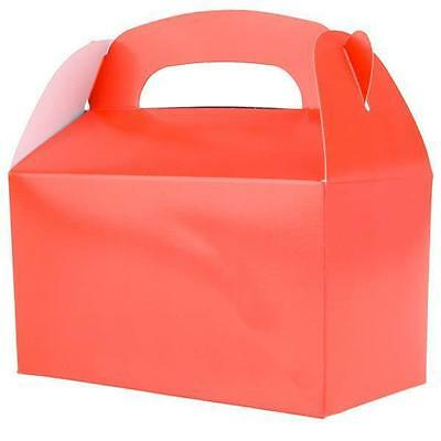 36 RED COLOR TREAT BOXES Birthday Party Loot Goody Gift Bags #ST20 FREE SHIPPING