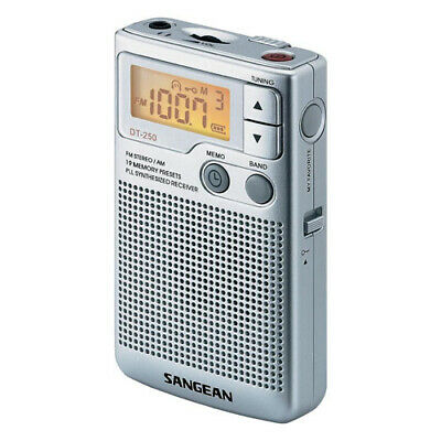 Sangean DT-250 Analogue Pocket Radio with GEN SANGEAN WARR