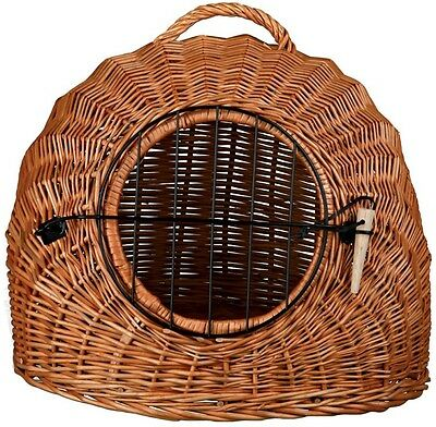 Classic Natural Durable Material Brown Pet Transport Sleeping Basket Den