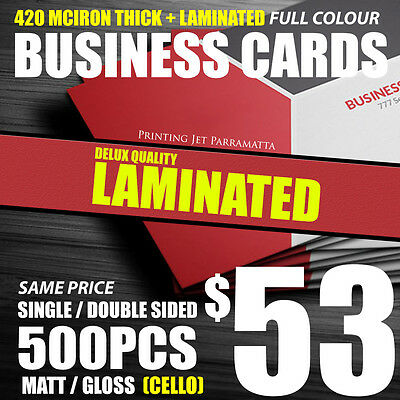 Business Cards [500 Laminated] Double Sided 420 micron Business Card Printing