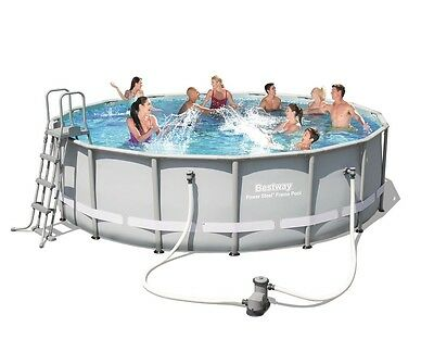 Bestway 16ft Power Steel Frame Swimming Pool (19,480L)